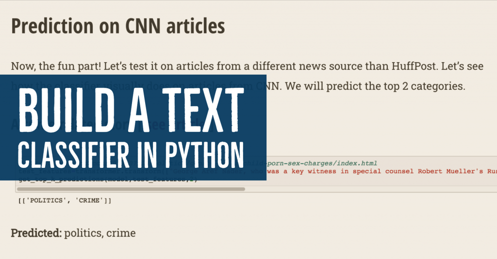build a nlp text classifier in python