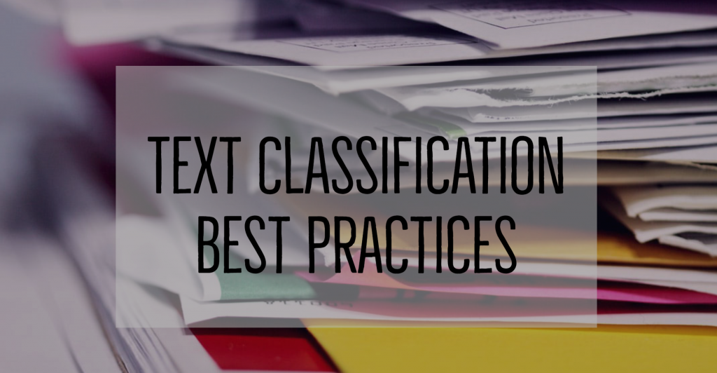 nlp text classification best practices